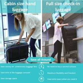 Rollux – Carry-on and Full-size suitcase – all-in-one